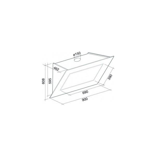 falmec quasar top 90 sklep agd styl najni sze ceny. Black Bedroom Furniture Sets. Home Design Ideas